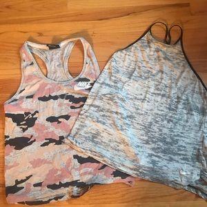 Bundle Two Nike Workout tops